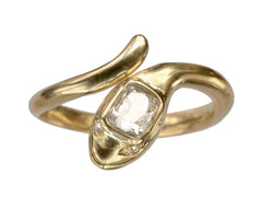 EB 0.55ct Mine Cut Diamond Snake Ring