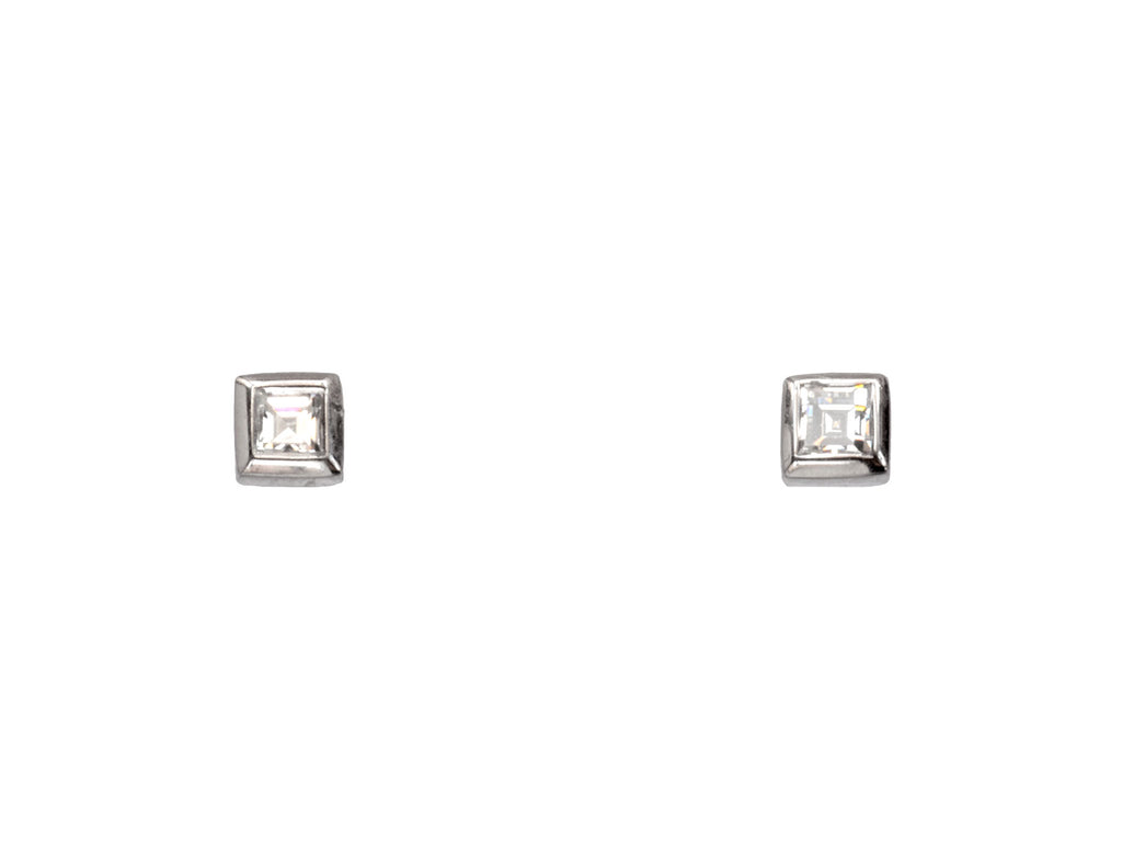 EB Square Diamond Studs