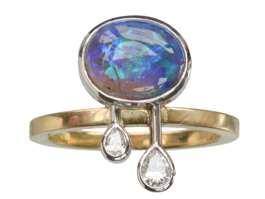EB Black Opal Storm Cloud Ring