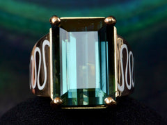 EB Tourmaline & Enamel Ring