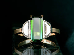EB Tourmaline and Diamond Ring