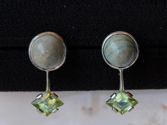 EB Peridot and Turquoise Stud Earrings