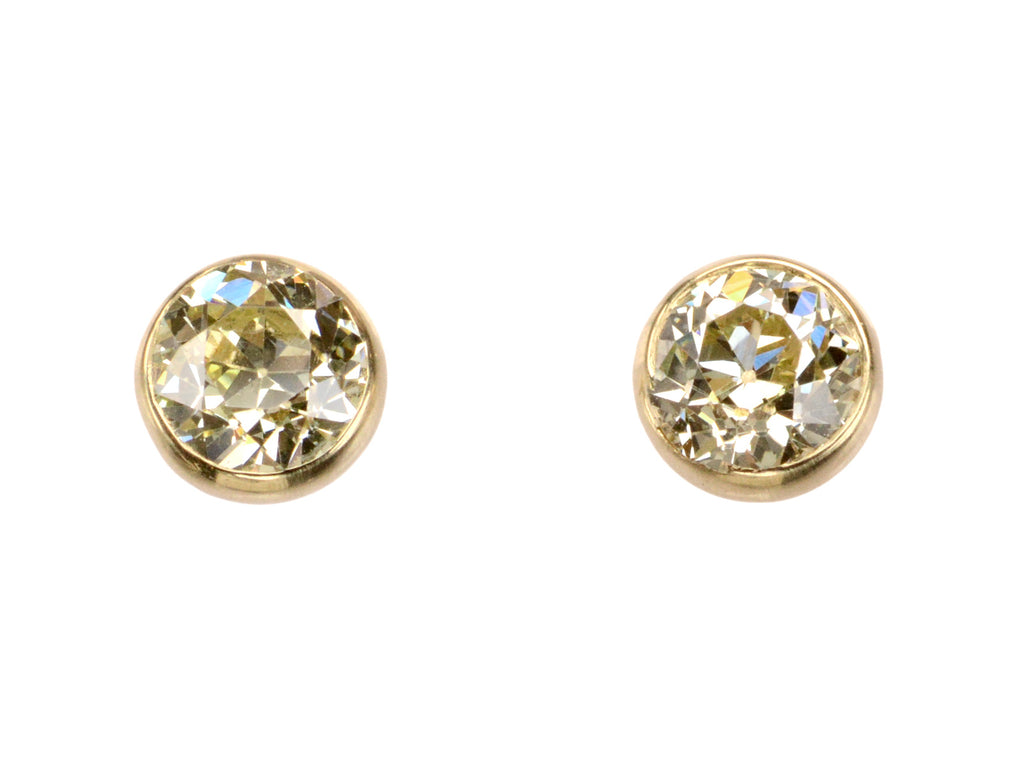 EB 1.14ctw Yellow Diamond Studs