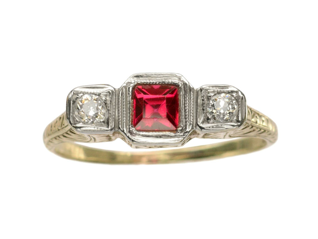 1910s Edwardian Ruby Ring