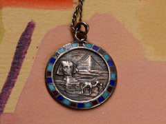 1920s Egyptian Pendant Necklace