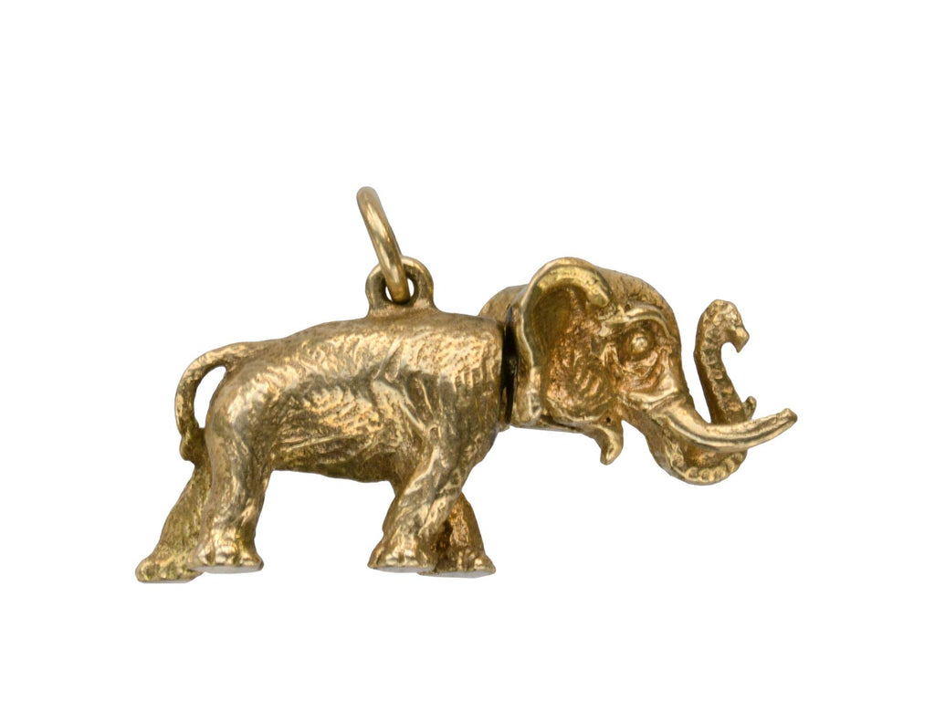 1940s Mechanical Gold Elephant Charm