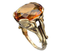 1910s Citrine Elephant Ring
