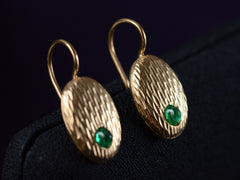 c1900 Emerald Earrings