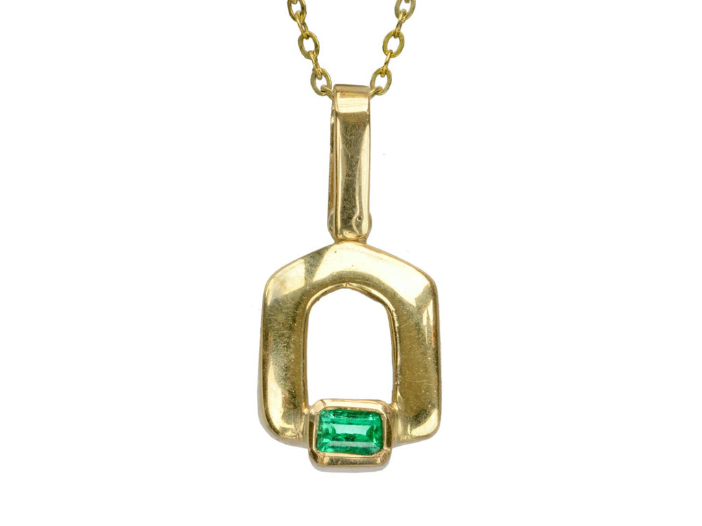 1980s Emerald Necklace, 18K