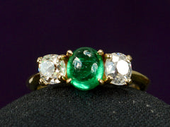1950s Emerald and Diamond Ring