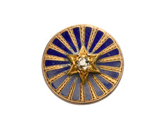1890s Diamond Enamel Star Stud