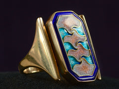 1990 Enamel Wave Ring