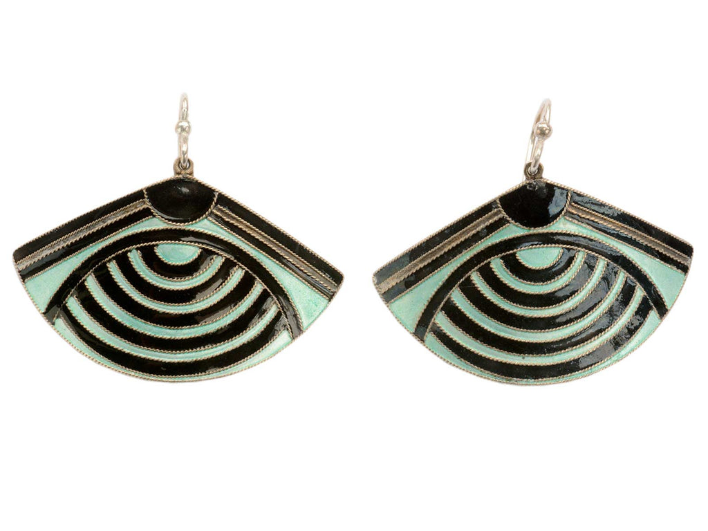 Vintage Enamel Eye Earrings