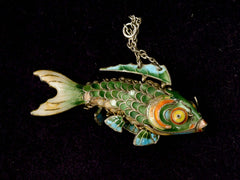 1960s Articulated Enamel Fish