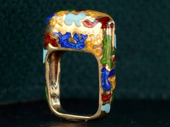 1980s Enamel Ring