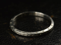 1929 Engraved Platinum Band