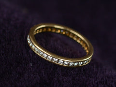 1980s Yellow Gold Eternity Band