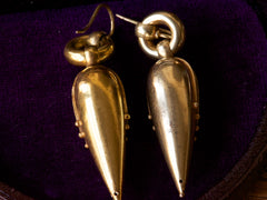 1880s Etruscan Revival Drop Earrings