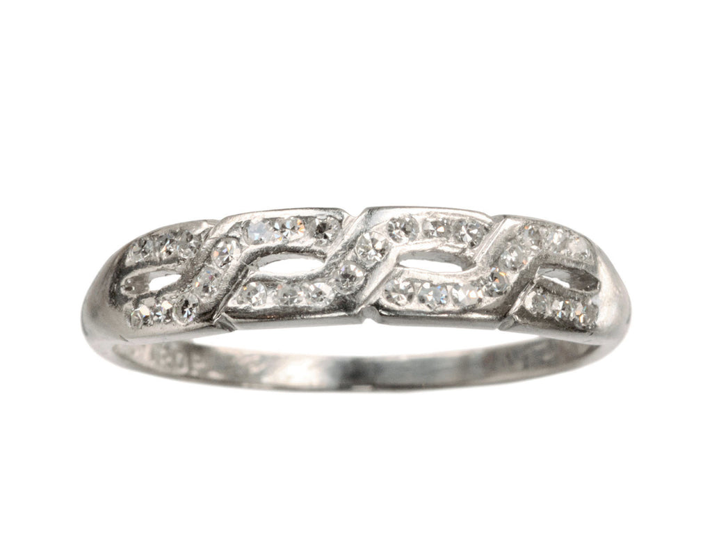 1930s Braided Diamond Band