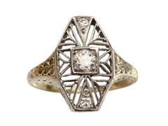 1920s Filigree Diamond Ring