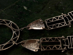 1980s Geometric Silver Filigree Necklace