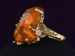 1970s Brutalist Fire Opal Ring