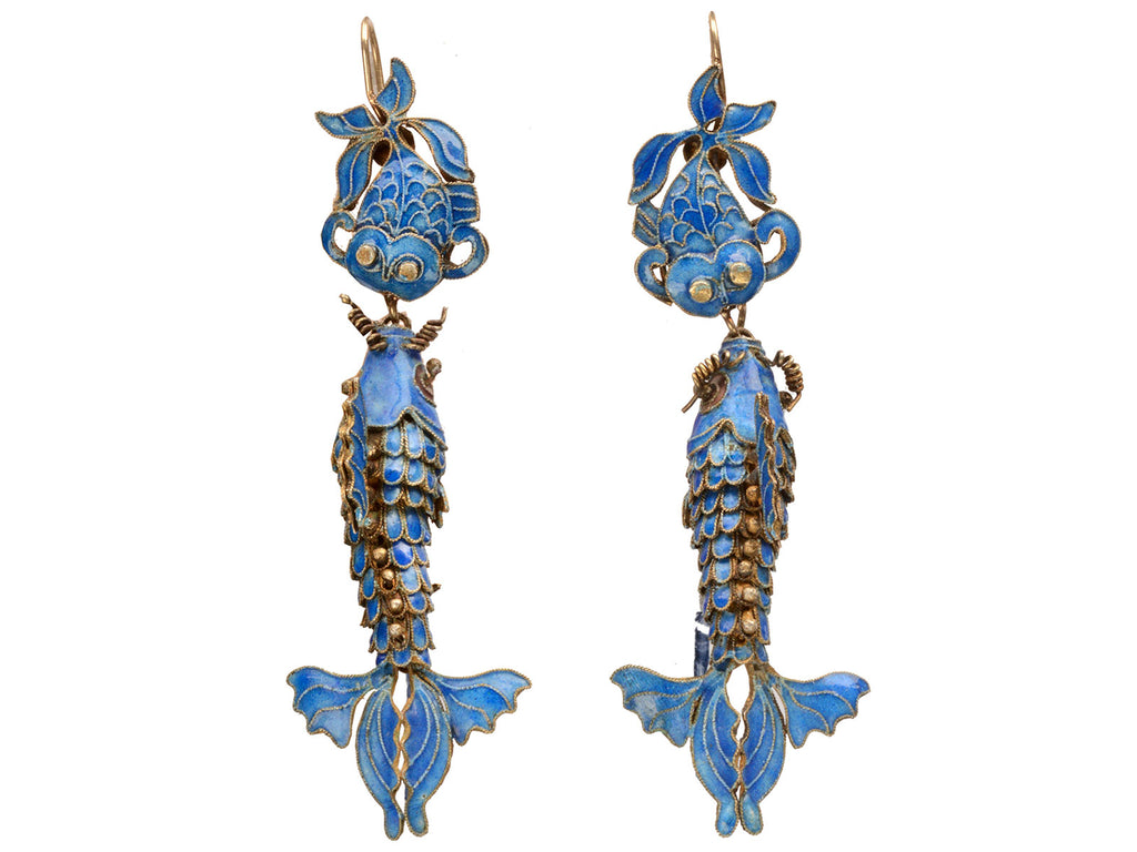Early 1900s Chinese Fish Earrings