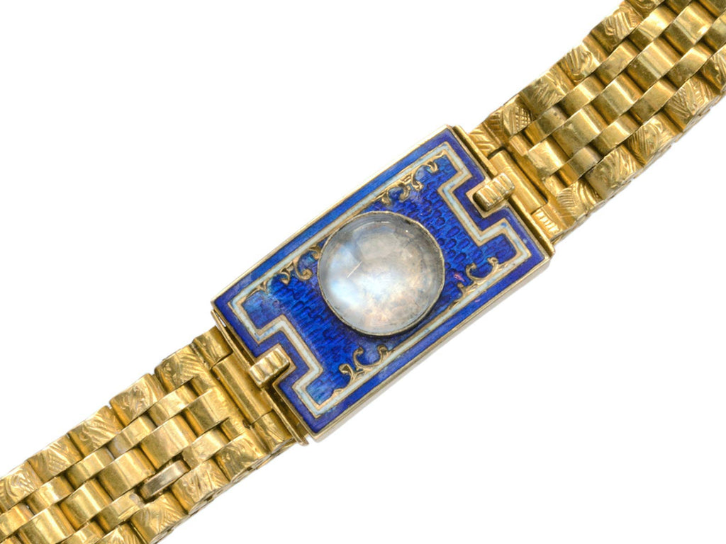 1900s French Moonstone Bracelet