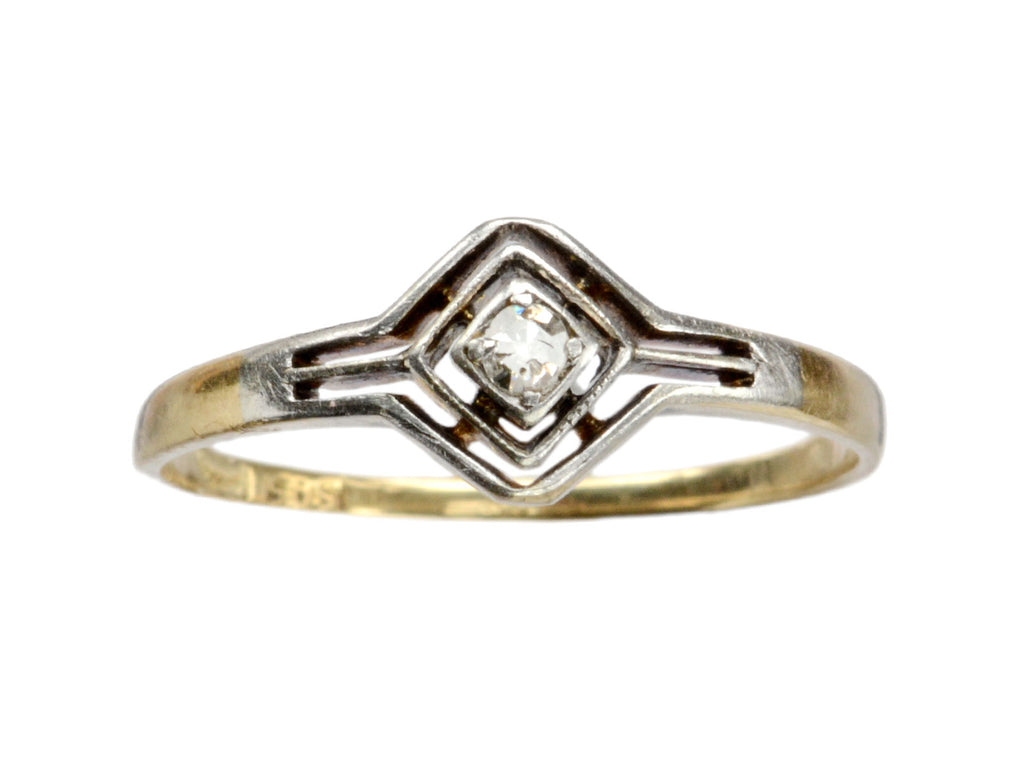 1910s Filigree Diamond Ring