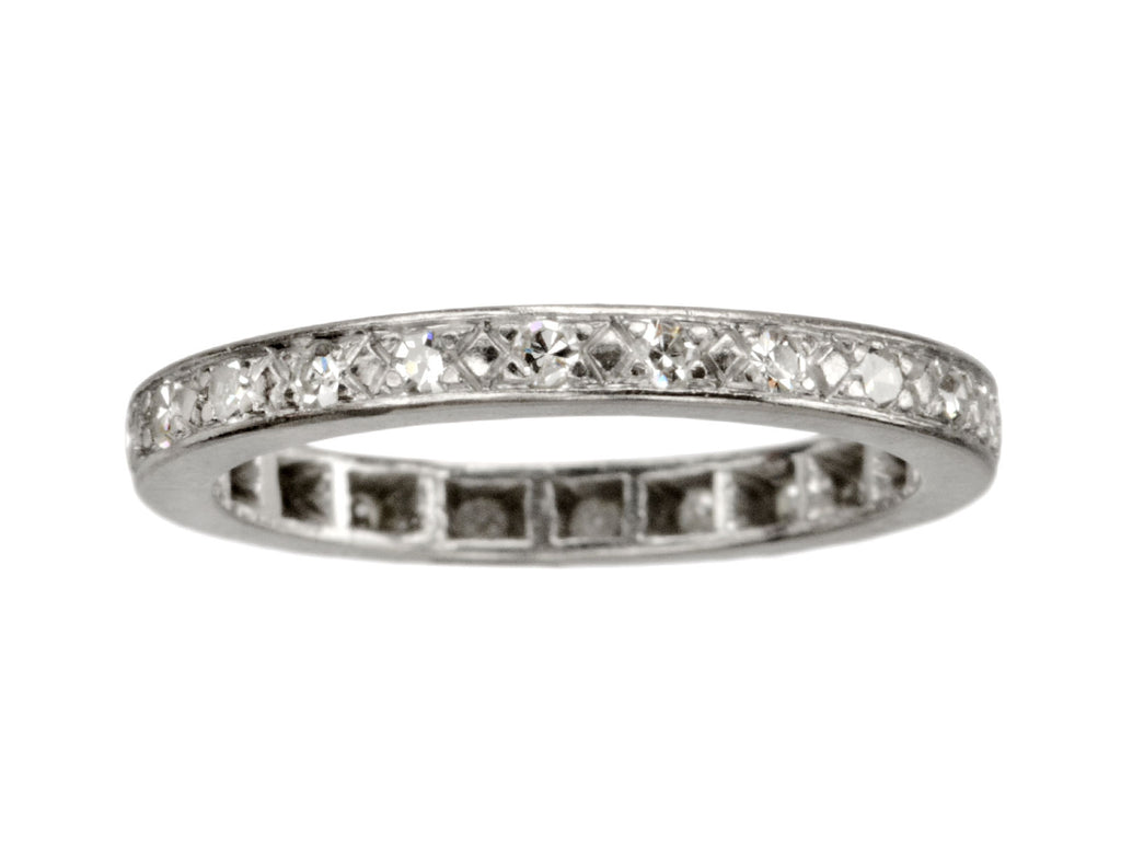 1920s French Diamond Eternity Band