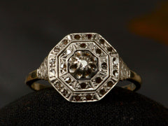 1920s French Octagonal Diamond Ring