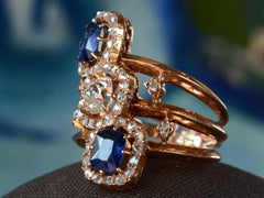 1890s French Sapphire & Diamond Ring
