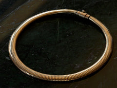 1940s Forstner Gaspipe Necklace
