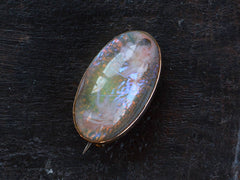 c1890 Victorian Glass Opal Pin