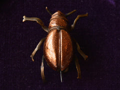 1880s Goldstone Bug Brooch
