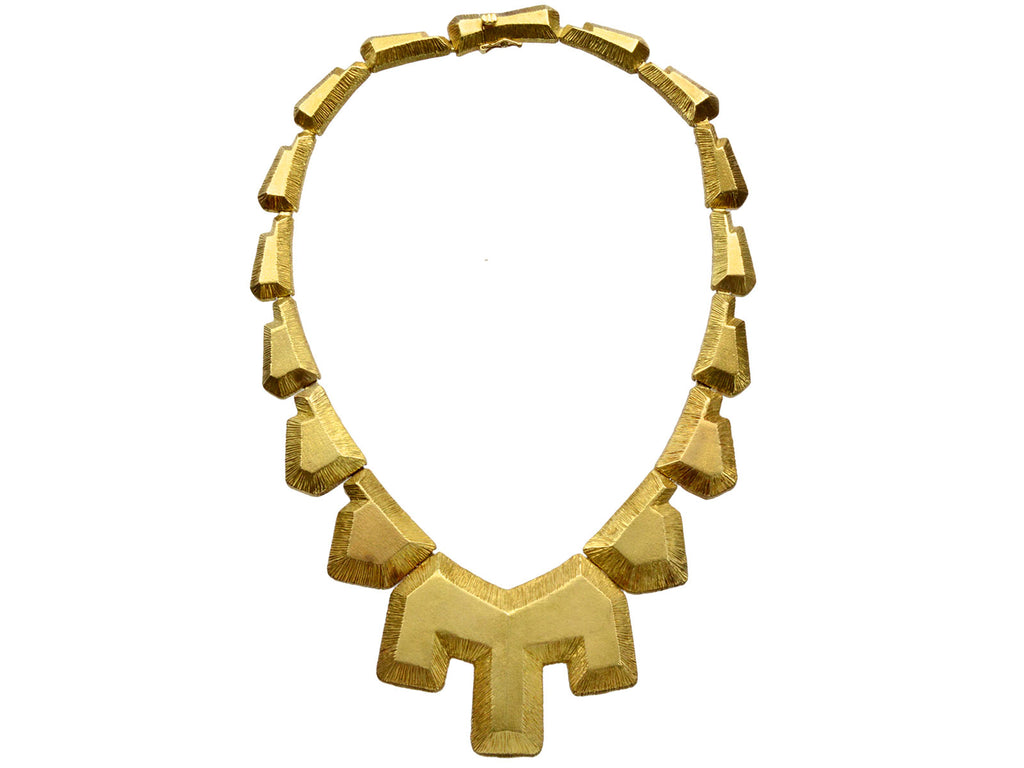 1980s Mapamenos Natepas Greek 18K Gold Necklace