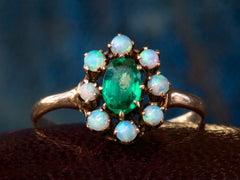 1900s Opal and Green Ring