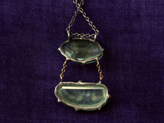 1980s Green Quartz Pendant Necklace