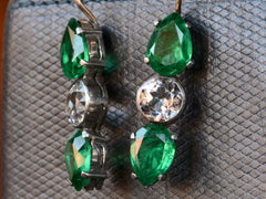 Vintage Green Paste Earrings