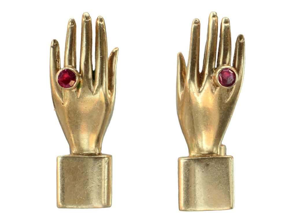 1940s Surrealist Hand Earrings