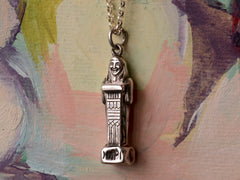 1912 Egyptian Revival Hapi Nile River God Pendant Necklace