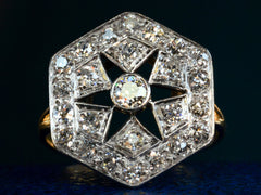 1920s Deco Cluster Ring