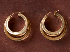 Vintage 14K Hoop Earrings
