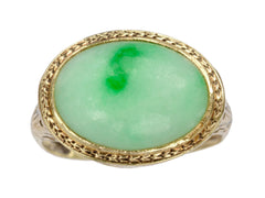 1920s Art Deco Jade Ring