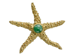 1960s Jade Starfish Brooch