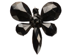 1880s French Jet Butterfly Pin