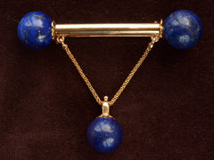1890s French Lapis Brooch