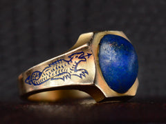 1930-40s Lapis Dragon Ring