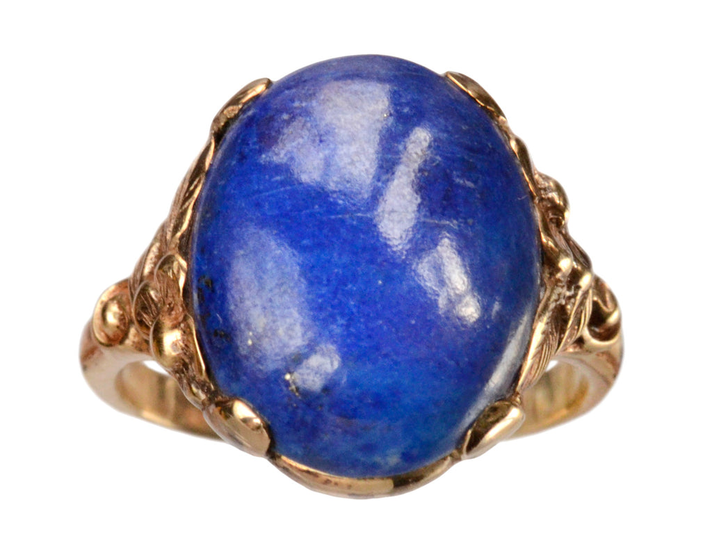 1910-20s Edwardian Lapis Ring