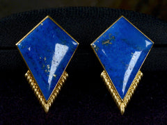 1950s Lapis Lazuli Kite Earrings